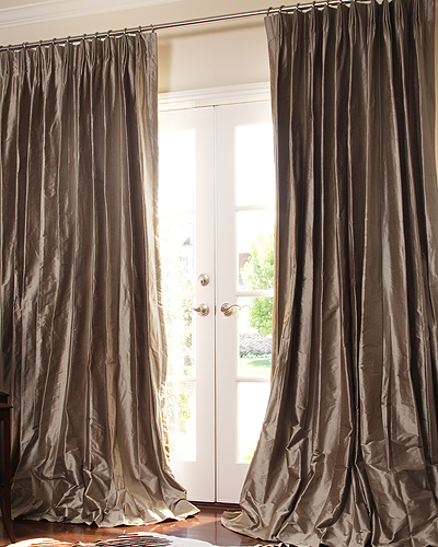 THE | OUTLET - Pewter Dupioni Silk Drapes